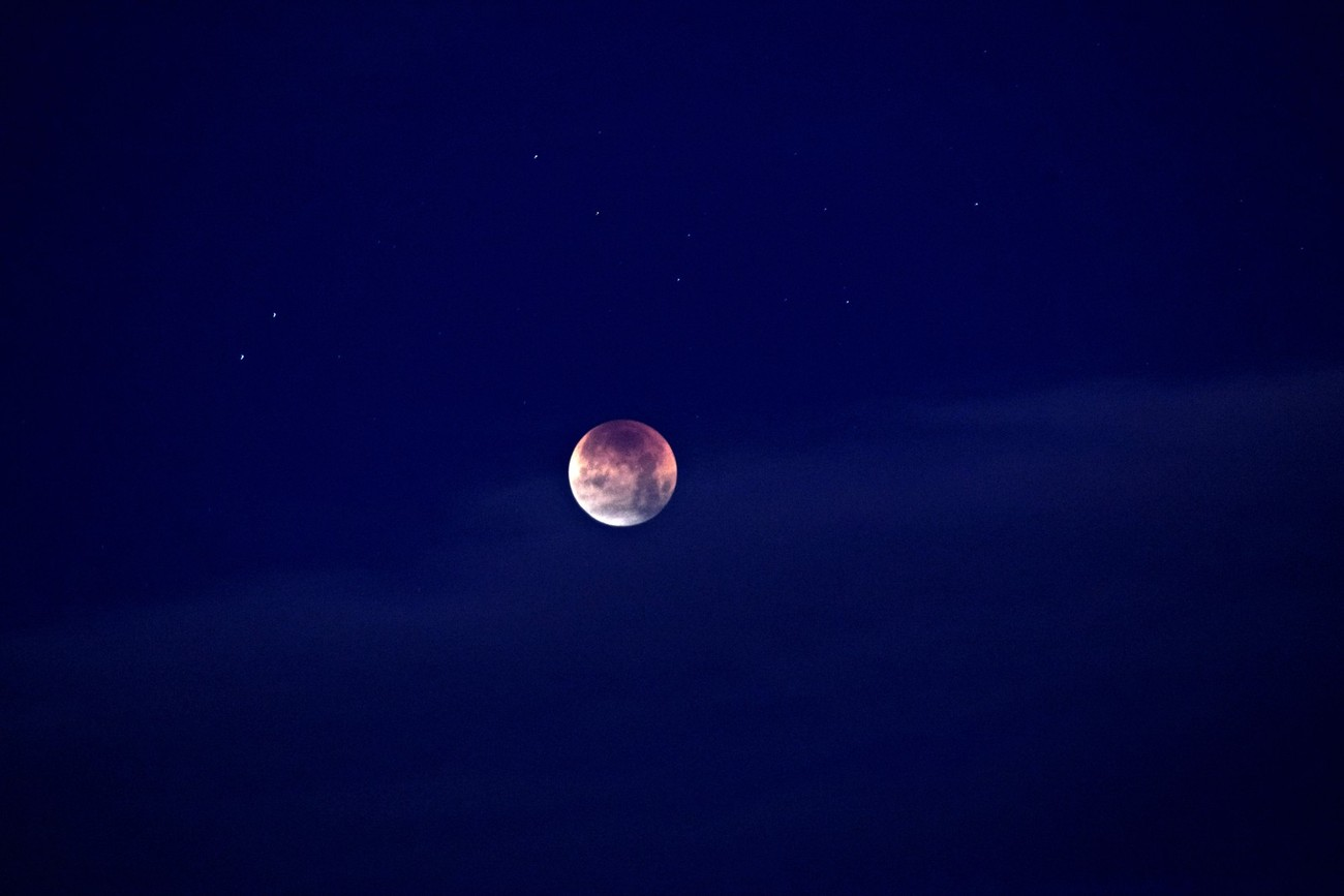 The historic lunar eclipse of 2018 !