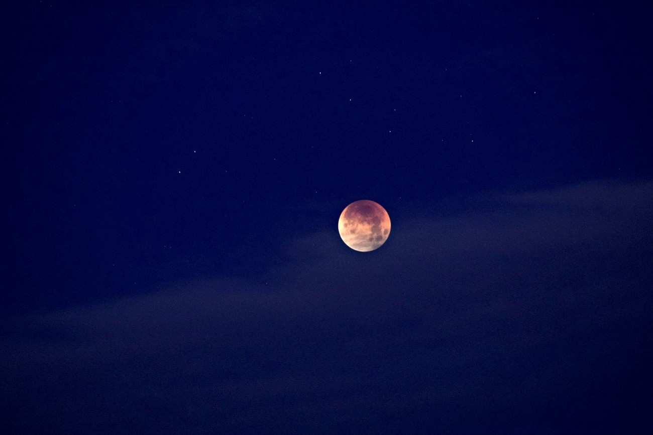 A view of the Super Blue Blood Moon lunar eclipse