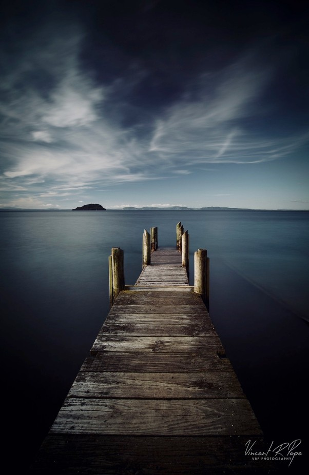 Taupo, Motutere Jetty N.Z by vincepope - Image Of The Month Photo Contest Vol 29