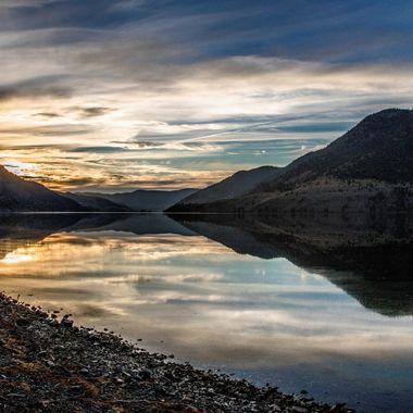 Summer evening at Nicola Lake