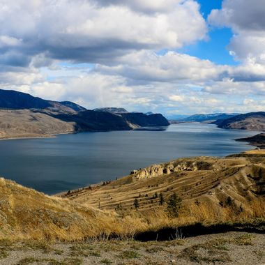 A View of Kamloops Lake . I had the camera on a tripod this day and stepped into the picture.