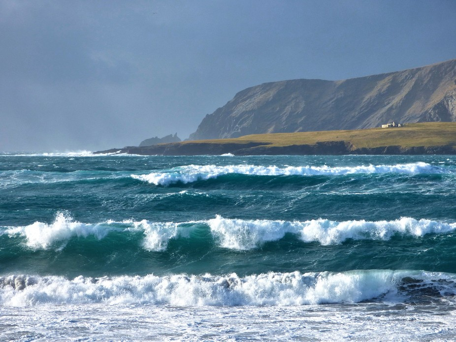 Gales are common in Shetland in winter but can be spectacular. I could hardly stand up to take th...
