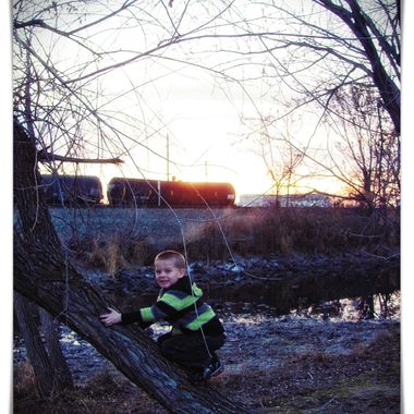 Boy In the Park at Sunset 1