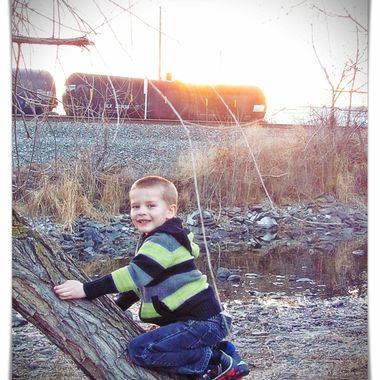 Boy In the Park at Sunset 2