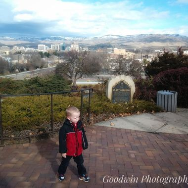Boy At the Boise Overlook
