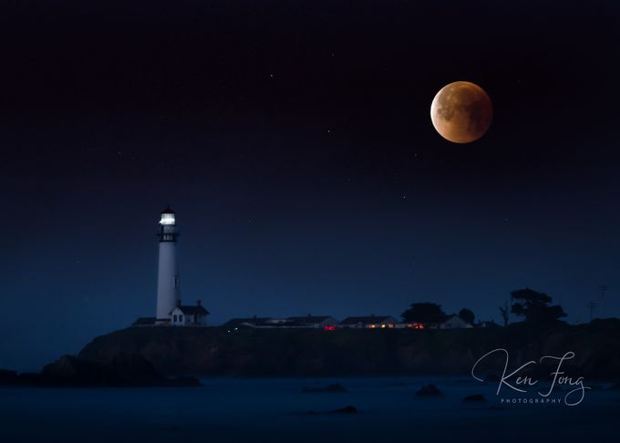 Pigeon Point Blood Moon by kenfong_7038 - Night Wonders Photo Contest