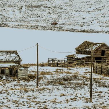 This old homestead is on the Highway near Kamloops