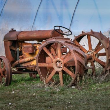 An old farm Tractor at Lillooet B C