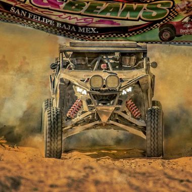 This is a photo of the Mayham race in the Baja, Mexico, San Filipe.  It is a race across the dearest that is a couple of hours long....dust is stirred everywhere!