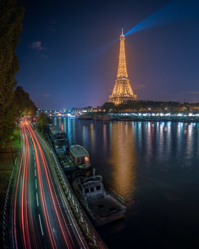 France - Eiffel Tower and the Seine