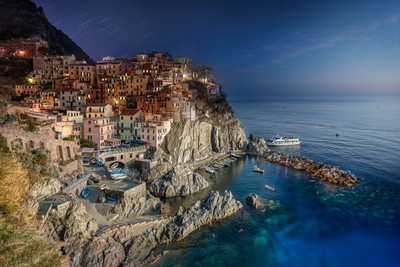 Italy - Manarola Day to Night