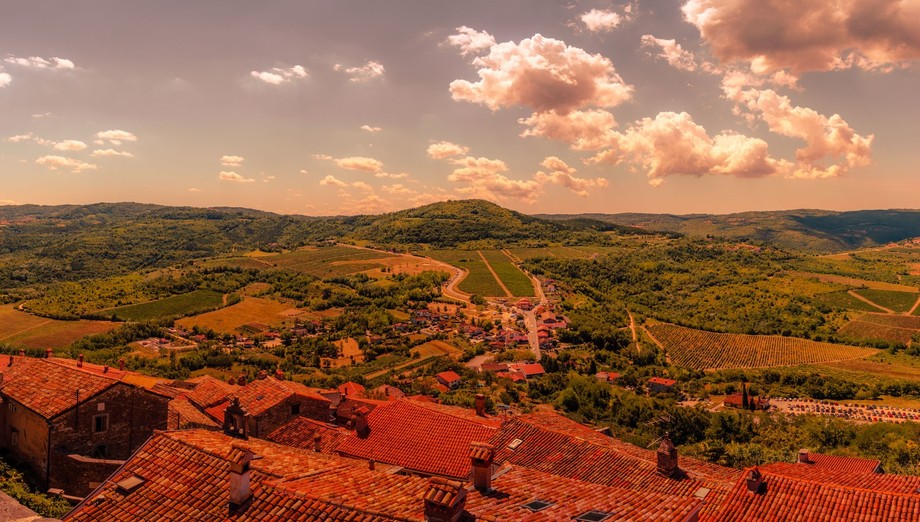 Taken on top of a beautiful village in Croatia. The mediterranean landscape is one of my favorite...