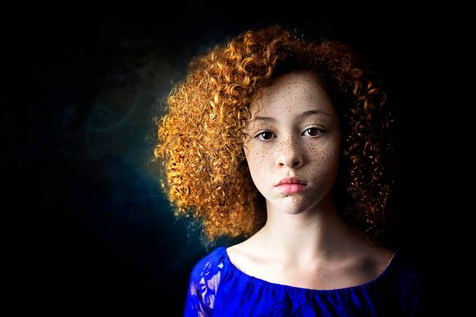 Curly Haired Beauty by sadiesherran - Faces With Freckles Photo Contest