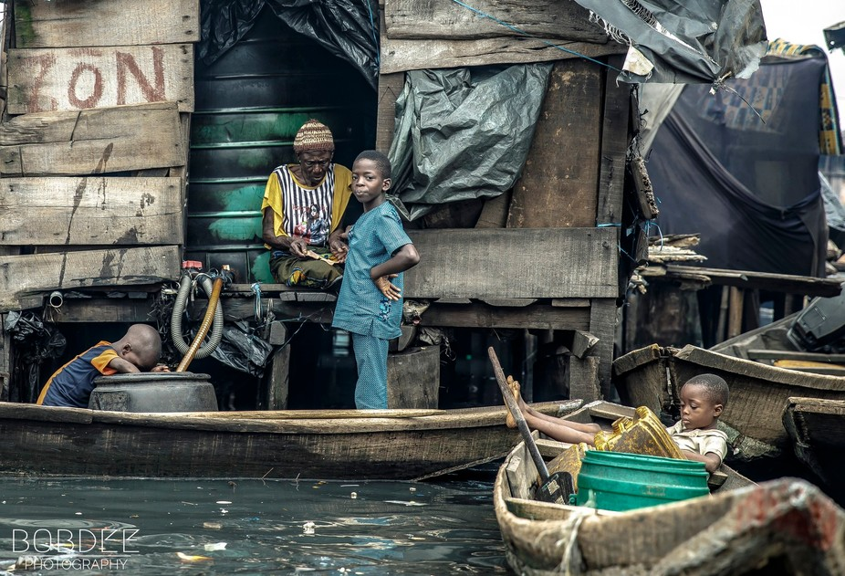Makoko is a stilted fishing village located in Lagos, Nigeria. The Egun people who live there sup...
