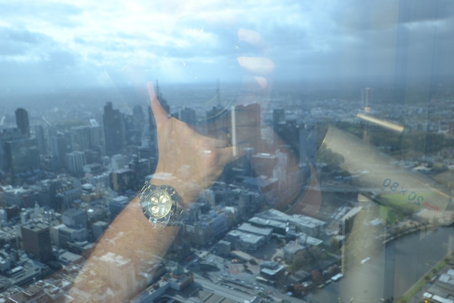 A photograph taken from thee 88th floor over looking Melbourne