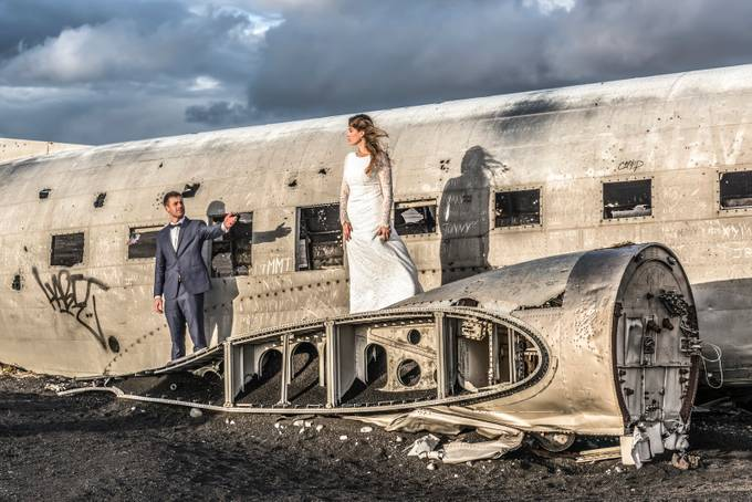Sólheimasandur Plane Wreck Wedding by jamesrushforth - Weddings And Fashion Photo Contest