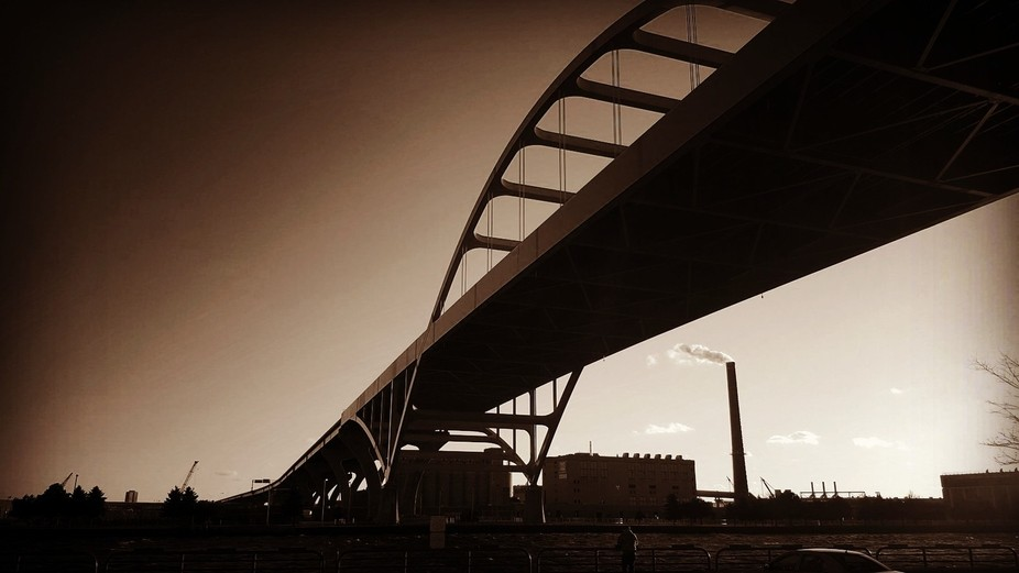 Under the Hoan Bridge,  Milwaukee,  Wisconsin