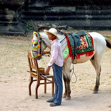 Cambodian horseman!
