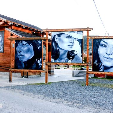 These paintings are visible from the alley
