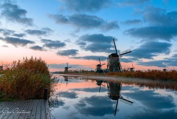 Dawn at Kinderdijke  by geagaetanidaragona - Covers Photo Contest Vol 45
