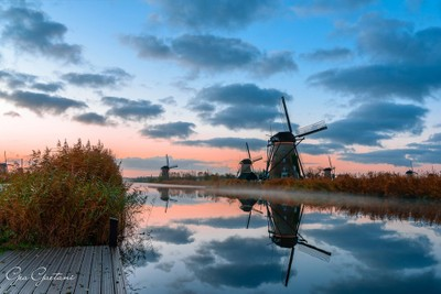 Dawn at Kinderdijke