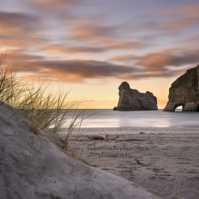 wonderful beach in north part of south New Zealand