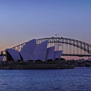 Beautiful Sydney Harbour At Dusk - Showcasing the iconic Harbour Bridge & Opera House