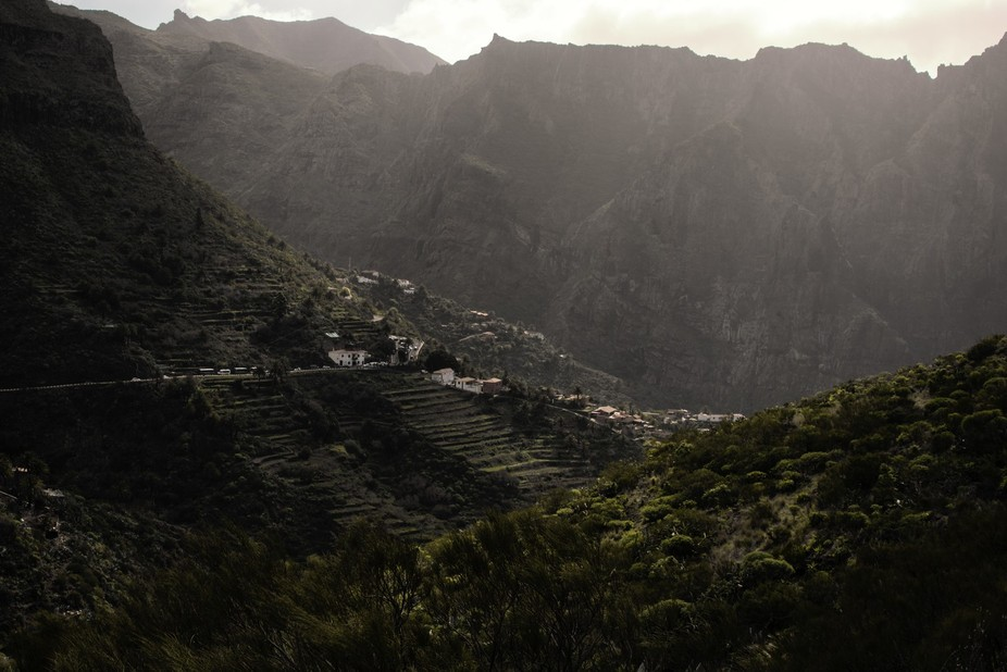 It's a shot of mountainscape in Tenerife, Spain. I was driving to the city down there, s...