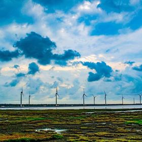 Wind power at Gaomei Wetlands | Taichung | Taiwan