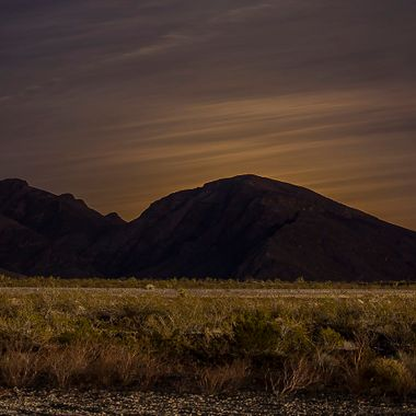 The Super, Blue Full moon about to rise. Clark Country Shoot Range, Las Vegas