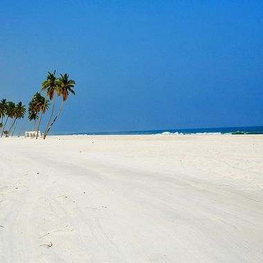 Pure white sandy beach in OMAN!