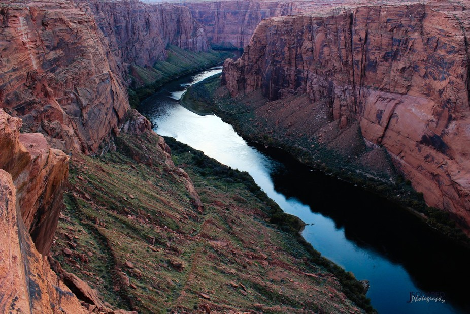 Colorado River, downstream from the Glen Canyon Dam.  Arizona.