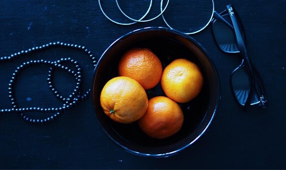 Orange in black