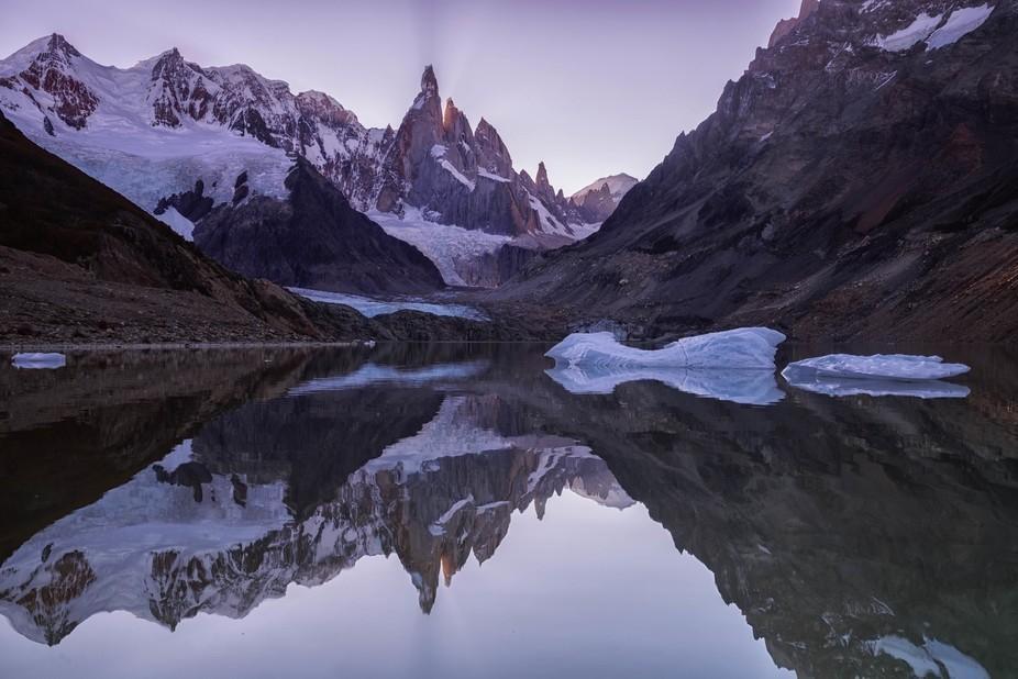 After sunset Cerro Torre