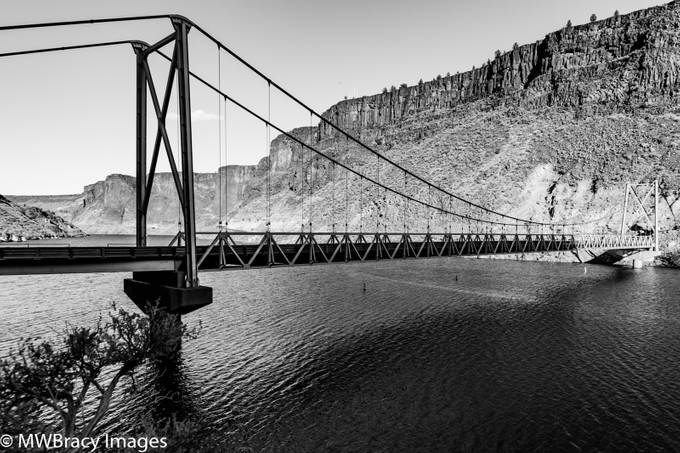 Deschutes river bridge #2 b&w