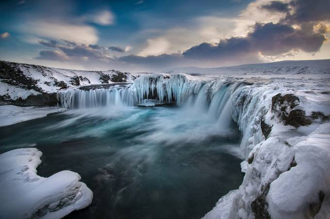 Godafoss Experiment by Iceland - Winter Long Exposures Photo Contest