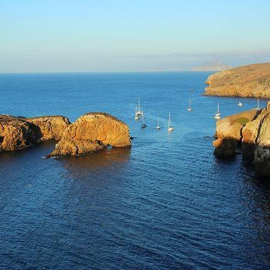 Views fron Santa Cruz Island in the Channel Islnds!