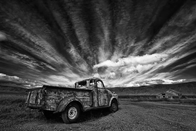 Old Truck bw  by Structor - My Favorite Car Photo Contest