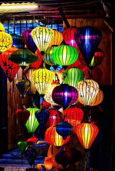 the Famous silk lanterns of Hoi An
