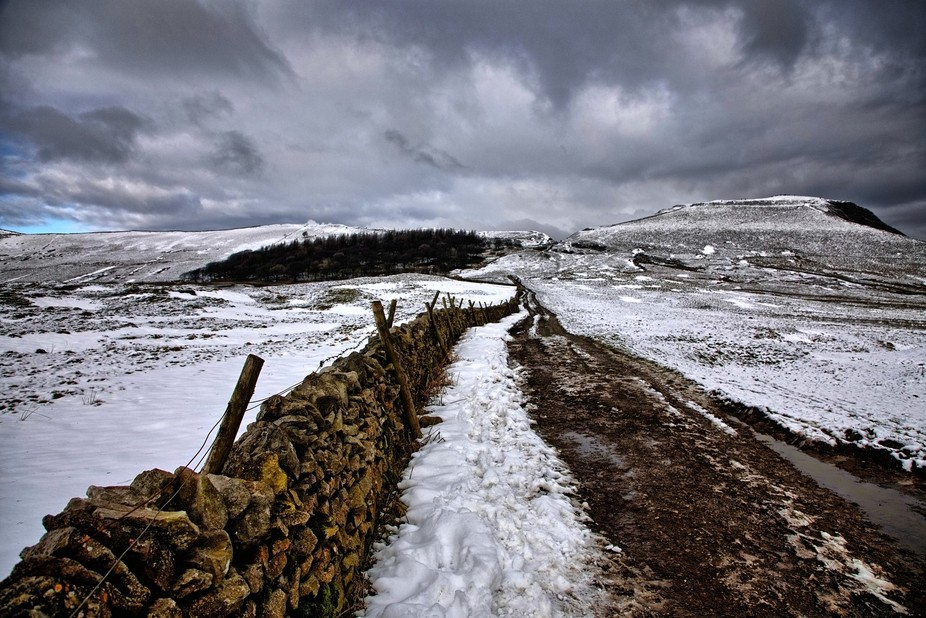 It was a chilly day in the hills above Manchester, but quite dramatic
