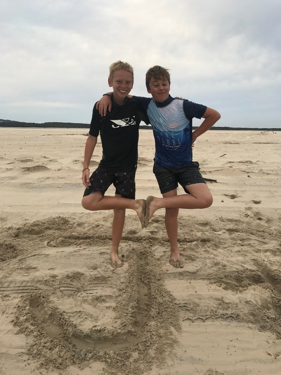 My son and his best mate, craziness will happen!