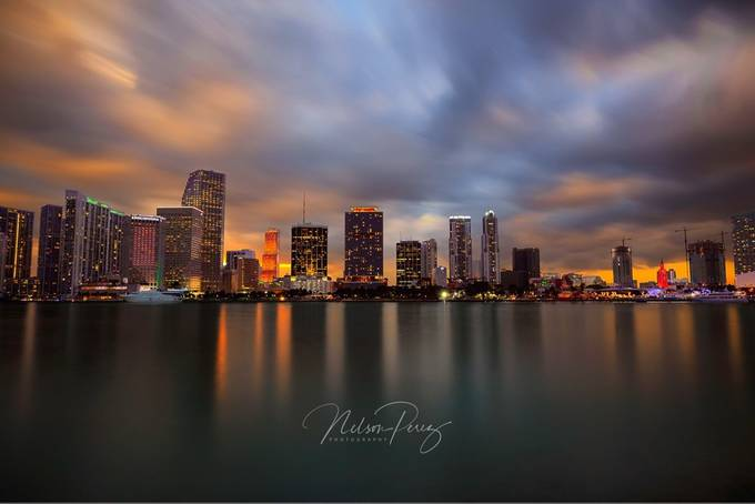Downtown miami by nelsonperez - The Moving Clouds Photo Contest