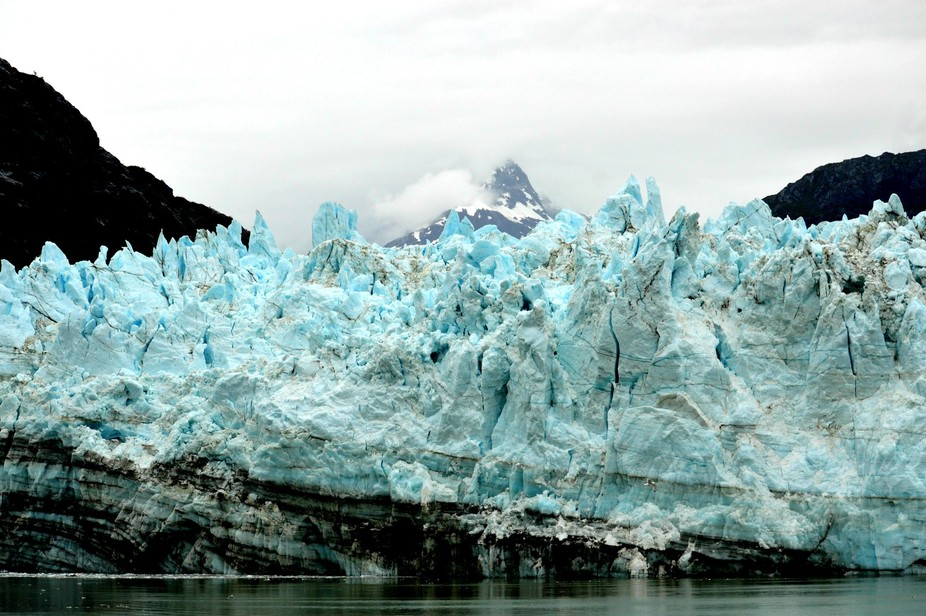 There is no way to describe the blue aquamarine color of a Glacier.