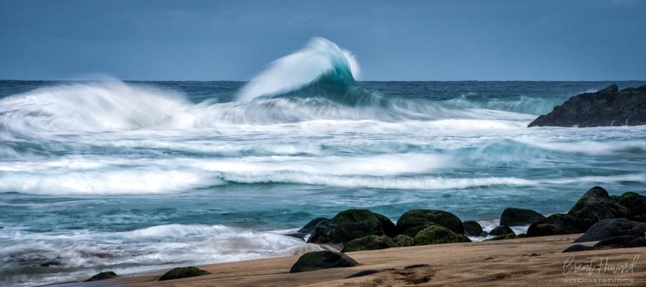 Wave Action, Hanakapi'ai Beach, Kauai