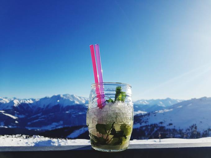The day is perfect for resting... mountains,sun and mojito