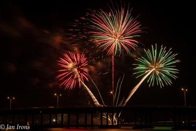 Fireworks Over the Green Bridge