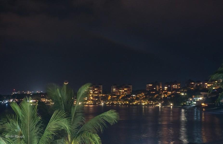 Bucerias outskirts across the Bay of Flags,Bahia de BAnderas