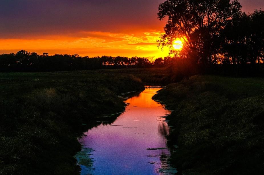 reflection of sunset glory