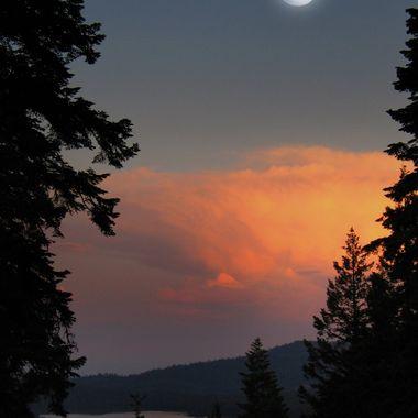 Moon over Howard Prairie Lake