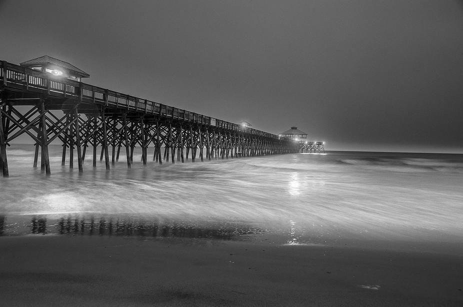Folly Beach in the rain